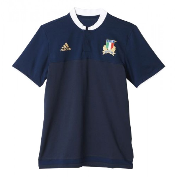 bec20c6e9 2015-2016 Italy Adidas Rugby Players Anthem Polo Shirt (Navy)