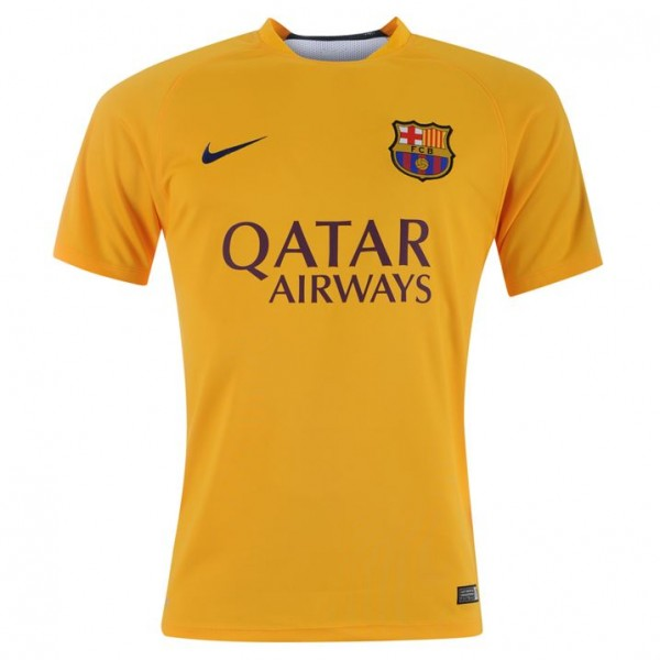 competitive price c3cd3 d5919 Barcelona 2015-2016 Pre-Match Training Jersey (Gold)