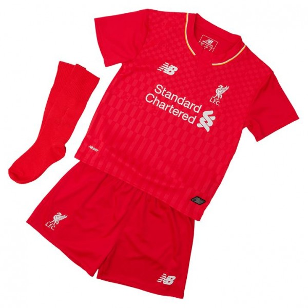 fe902491bd3 Liverpool 15-2016 Home Little Boys Mini Kit