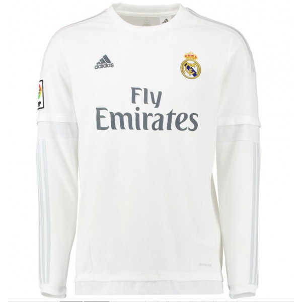 reputable site 9ead5 c9455 Real Madrid 2015-2016 Home Long Sleeve Shirt (Kids)