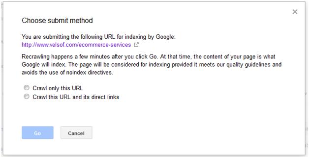 Google Webmaster Fetch