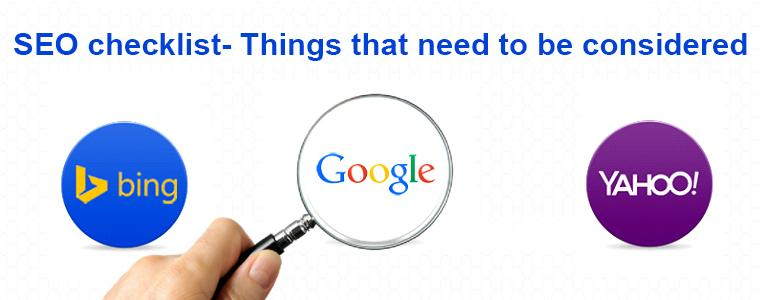SEO Checklist Things That eed To Be Considered | Velsof