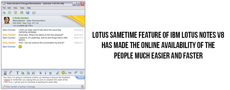 Enhanced features of Lotus Sametime integration | Velsof