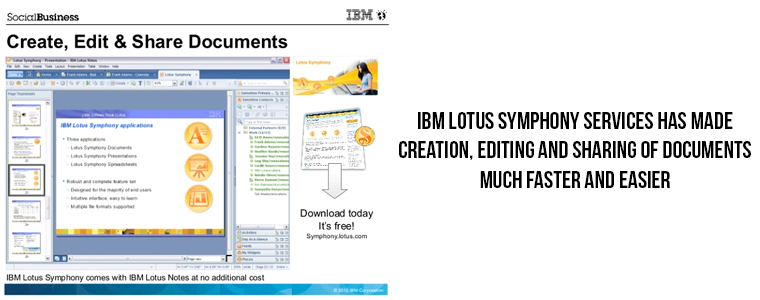 Extended features of IBM Lotus Symphony | Velsof