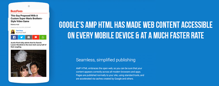 Impact of Google AMP HTML mobile framework on web world | Velsof