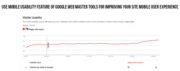 Use Mobile Usability Feature Of Google Web MasterTool | Velsof