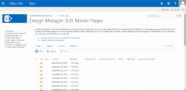 Design Manager : Edit Master Page | Velsof