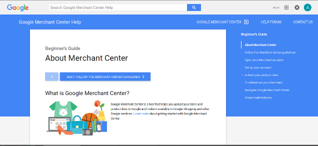Registration of customer on Google Merchant Center Account | Velsof