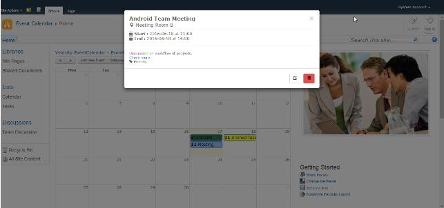 Event Calendar Web Part