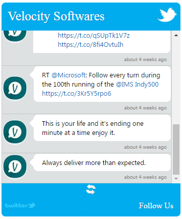 Twitter Feed  Velocity Software