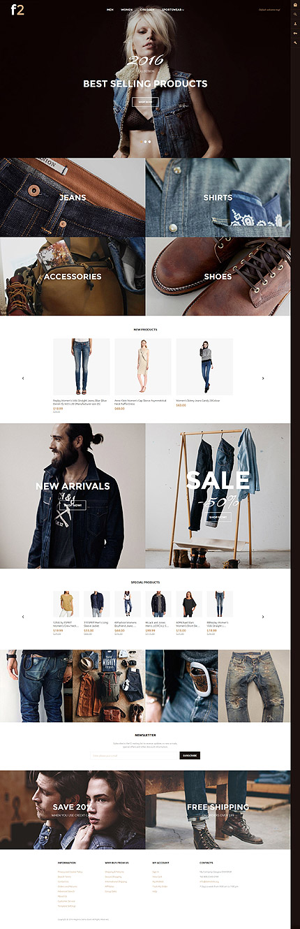 Latest free Magento templates that are popular in eCommerce world- F2- Free Magento 2.0 Theme| Velsof