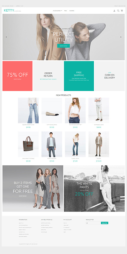 Latest free Magento templates that are popular in eCommerce world- Ketty Magento 2 Beta | Velsof