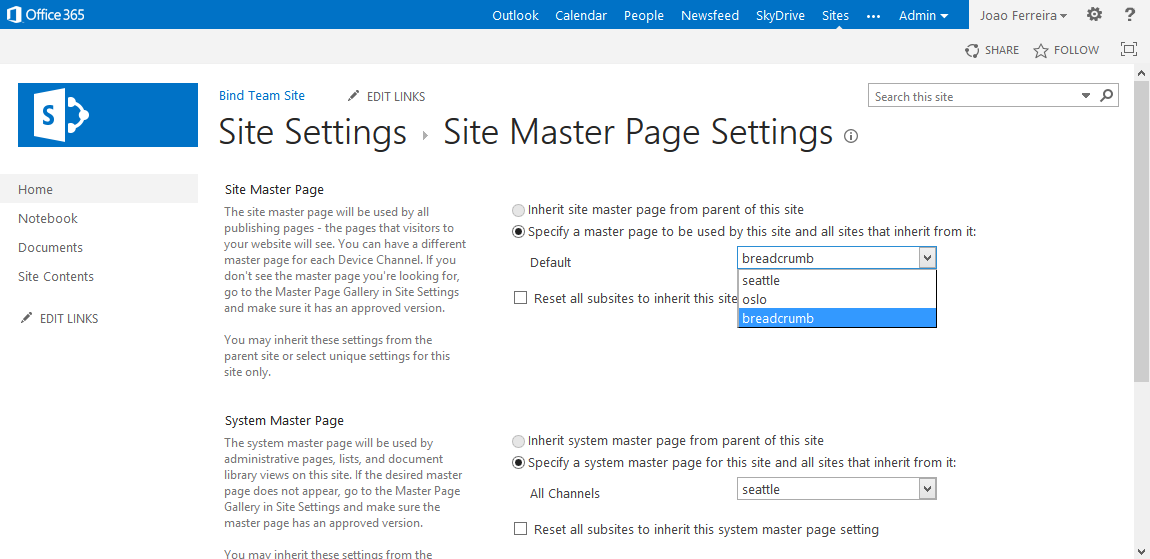 SharePoint MasterPage Customization- Site Masterpage Settings | Velsof