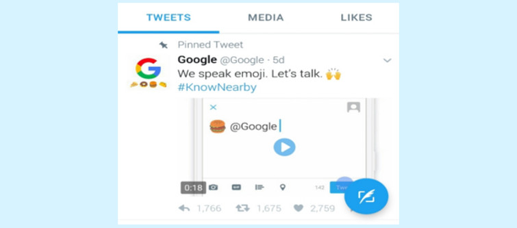 Google brings out emoji feature which helps improvise local search results- Emoji based search feature from Google Twitter handle | Velsof