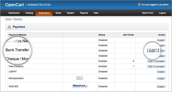 Setting up payment methods- edit to configure the payment option   Velsof