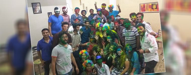 Holi celebration at Velocity- Colors of Holi | Velsof