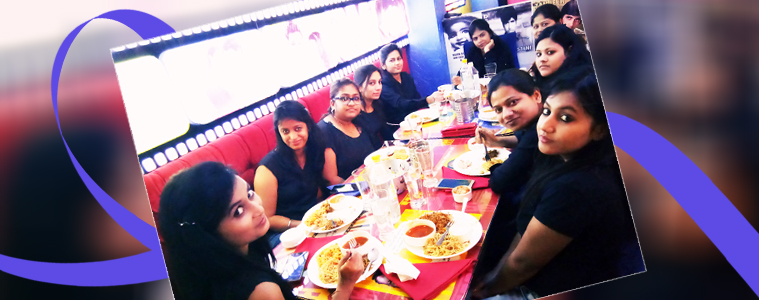 Velocity takes Women Employees for a Fun Outing on International Women's Day- Hmmmm!! Yummy food   Velsof