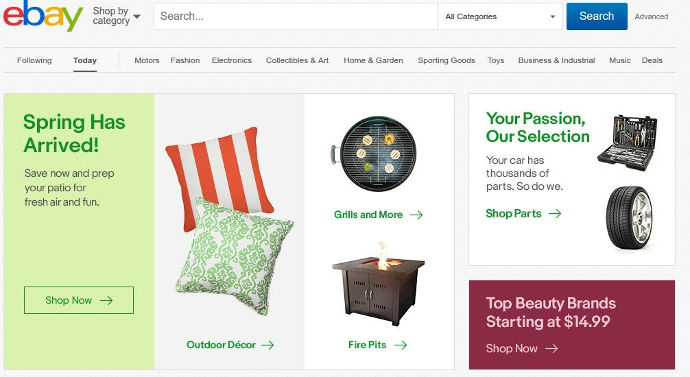 Ebay Product Page with Search Bar
