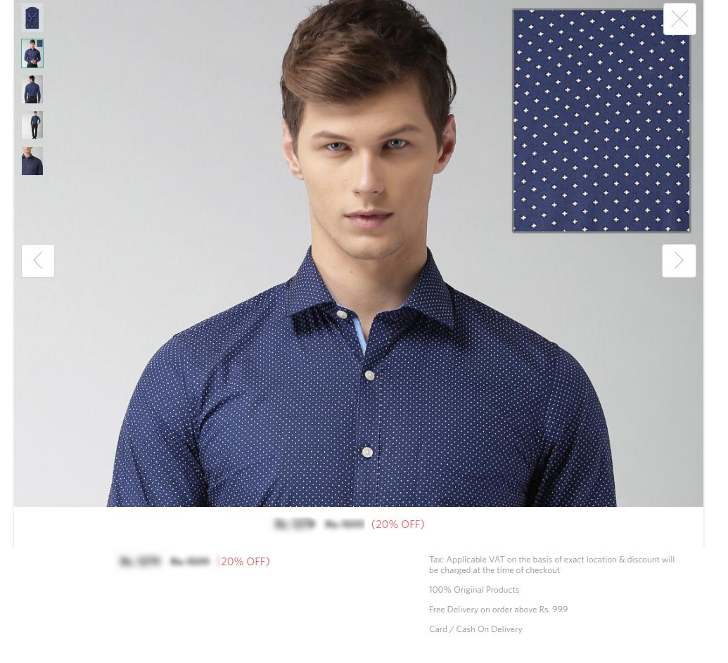 Myntra's product images