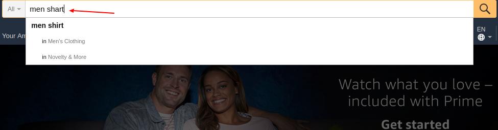 Amazon's search box