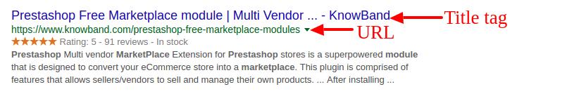 Meta tag & URL
