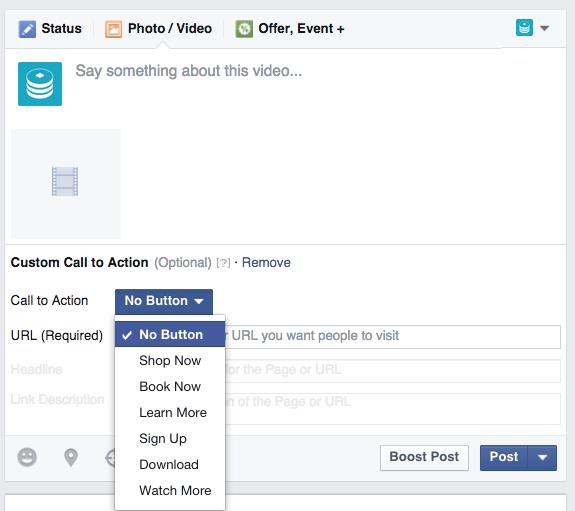 Call to action button| Facebook Marketing 2019